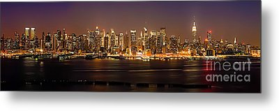 New York City Skyline Metal Print by Anthony Sacco