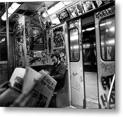 New York Subway Metal Print