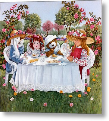 Nicole's Magic Tea Party Metal Print