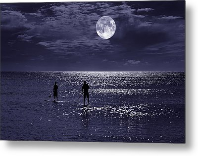Night Boarders Metal Print