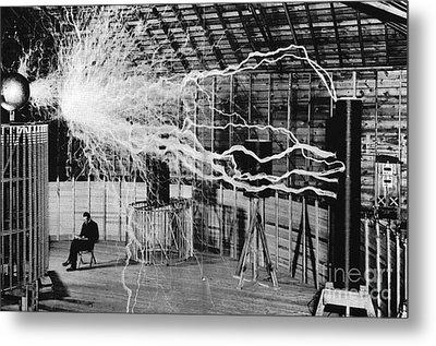 Nikola Tesla Serbian-american Inventor Metal Print