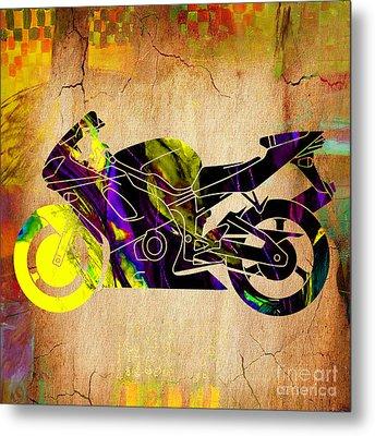 Ninja Bike Metal Print by Marvin Blaine