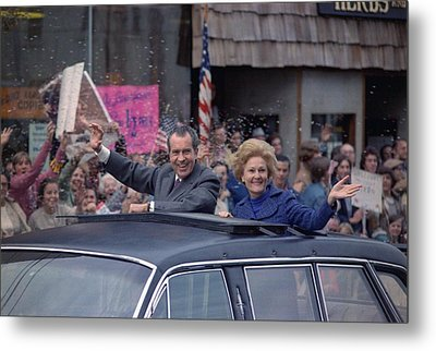Nixon 1972 Re-election Campaign Metal Print by Everett