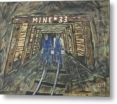 No Windows Down There In The Coal Mine .  Metal Print