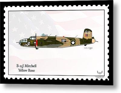 North American B-25j Mitchell Metal Print
