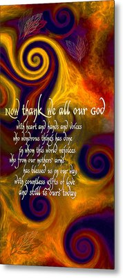 Now Thank We All Our God Metal Print