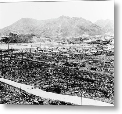 Nuclear Destruction At Nagasaki Metal Print by Us Navy