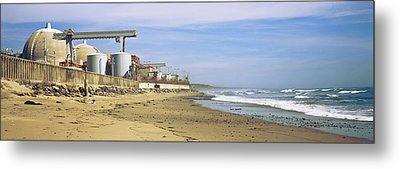 Nuclear Power Plant On The Beach, San Metal Print by Panoramic Images