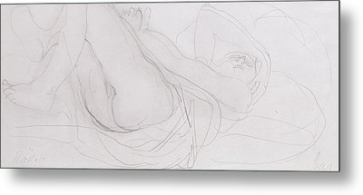 Nude Metal Print by Auguste Rodin