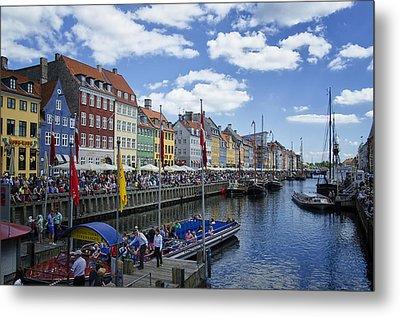Nyhavn - Copenhagen Denmark Metal Print by Jon Berghoff