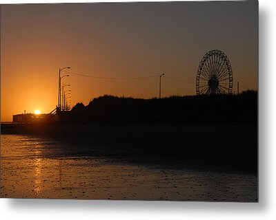 Ocean City Sunset Metal Print by Dan Myers
