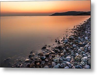 Ocean Sunset Metal Print by Adrian Evans