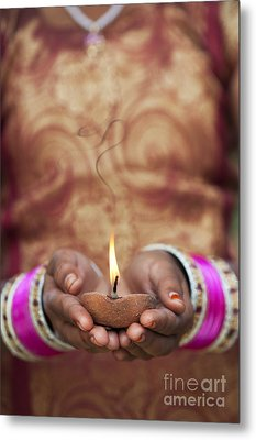 Offering The Light Metal Print by Tim Gainey