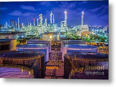 Oil Refinary Industry  Metal Print
