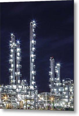 Oil Refinery Industry Metal Print