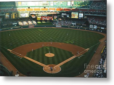 Old Busch Field Metal Print by Kelly Awad