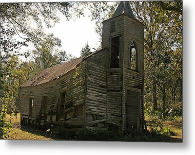 Old Church Metal Print by Ronald Olivier