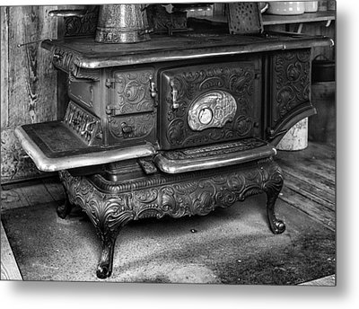 Old Clarion Wood Burning Stove Metal Print by Lynn Palmer