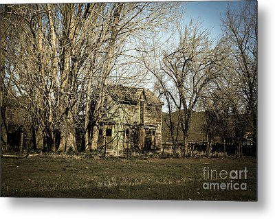 Old Farm House Metal Print by Robert Bales