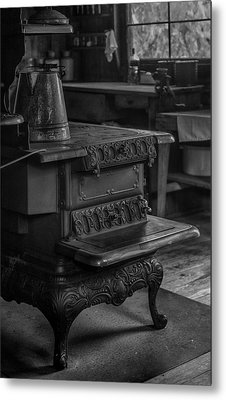 Old Farm Kitchen And Wood Burning Stove Metal Print by Lynn Palmer