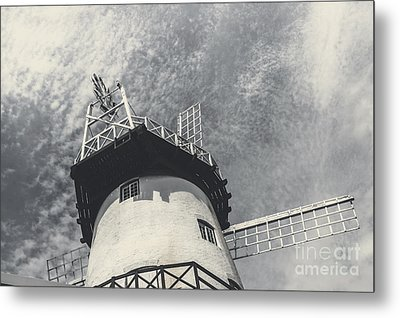 Old-fashioned Australian Windmill Architecture Metal Print by Jorgo Photography - Wall Art Gallery