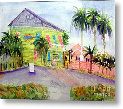 Old Key Lime House Metal Print by Donna Walsh
