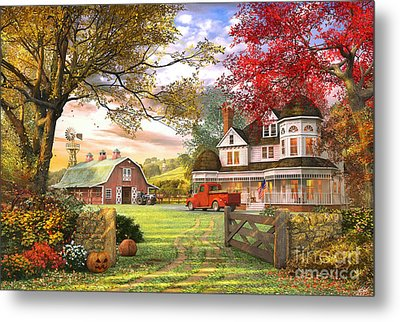 Old Pumpkin Farm Metal Print