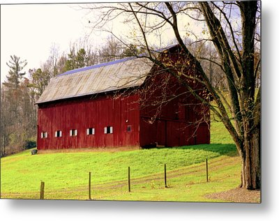 Old Red Metal Print by Karen Wiles