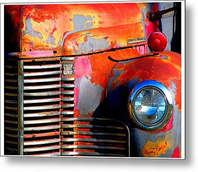 Old Red Man Metal Print by Gail Lawnicki