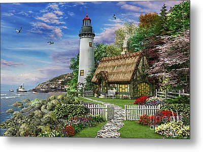 Old Sea Cottage Metal Print