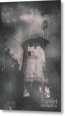 Old Tower Mill Building. Historic Fine Art Photo Metal Print