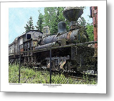 Metal Print featuring the photograph Old Train  by Kenneth De Tore
