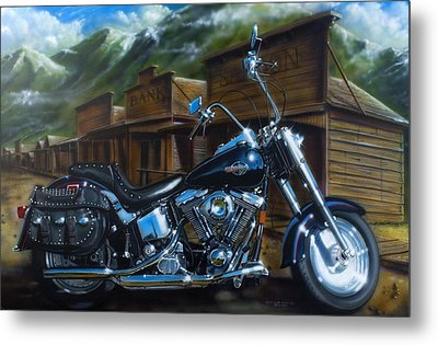 Old West Fat Boy Metal Print by Timothy Scoggins