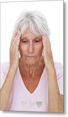 Older Lady With Headache Metal Print