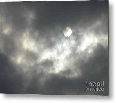 On A Scary Night Metal Print