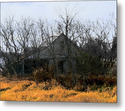 Metal Print featuring the digital art On Hwy 49 North Of Waupaca  by David Blank