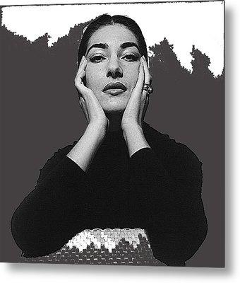 Opera Singer Maria Callas  Cecil Beaton Photo No Date-2010 Metal Print by David Lee Guss
