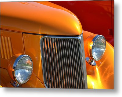 Orange Hotrod Metal Print by Dean Ferreira