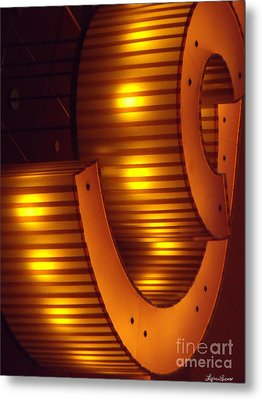 Metal Print featuring the photograph Orange Swirl 9 by Lyric Lucas