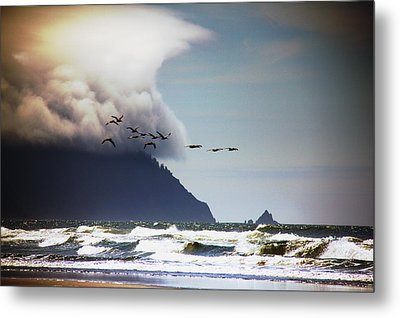 Metal Print featuring the photograph Oregon Coast  by Aaron Berg