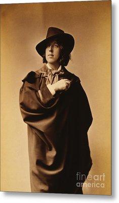 Oscar Wilde Metal Print by Napoleon Sarony