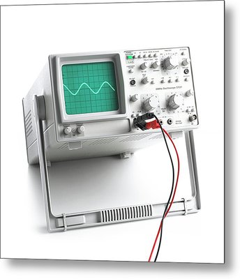Oscilloscope Metal Print by Science Photo Library