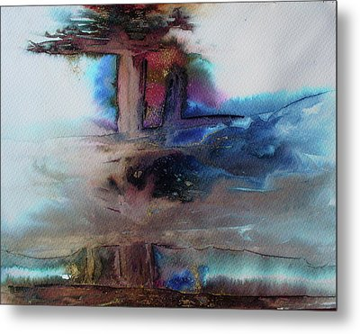 Metal Print featuring the painting Out Of The Mist by Mary Sullivan