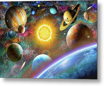 Outer Space Metal Print by Adrian Chesterman