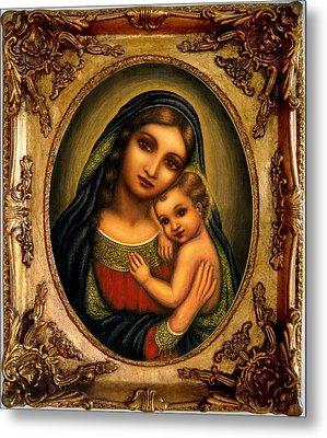 Oval Madonna  Metal Print