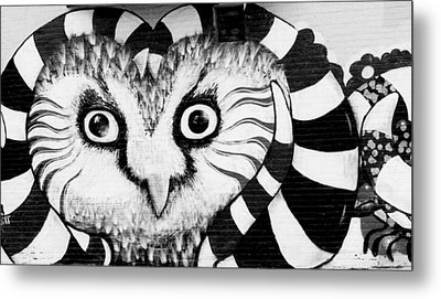 Metal Print featuring the photograph Owl Mural by Ricky L Jones