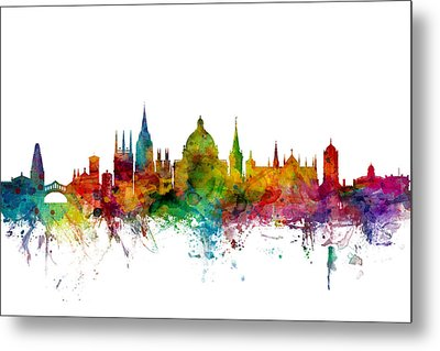 Oxford England Skyline Metal Print by Michael Tompsett