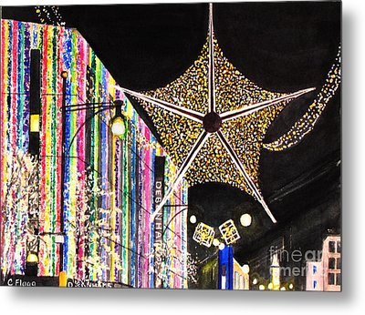Metal Print featuring the painting Oxford Street London 2011 by Carol Flagg