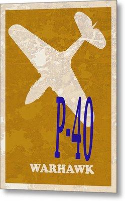 P-40 Warhawk Metal Print by Mark Rogan