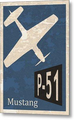P-51 Mustang Metal Print by Mark Rogan